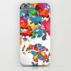 Paint elephant iPhone 6s Slim Case