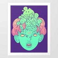 Brain Parasites Art Print