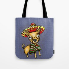 Mexican Chihuahua in Brown Tote Bag