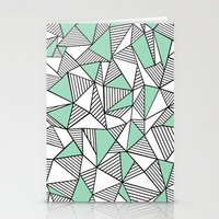 Abstraction Lines With M… Stationery Cards
