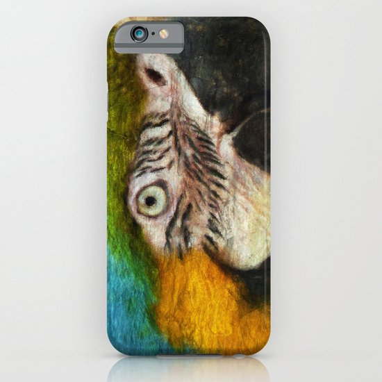 Blue and Gold Macaw iPhone & iPod Case