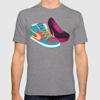 Shoe Lovin' Mens Fitted Tee Tri-Grey SMALL