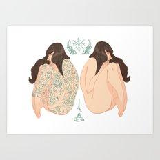 Tattoo vs No Tattoo = Equally beautiful  Art Print