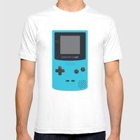 GAMEBOY Color - Light Blue Version Mens Fitted Tee White SMALL