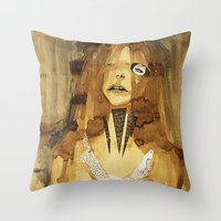 she was here Throw Pillow