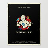 Paintballers Canvas Print