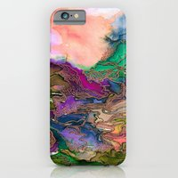 BRING ON BOHEMIA 1 Bold Rainbow Colorful Watercolor Abstract Metallic Accent Summer Peach Pink Green iPhone 6 Slim Case