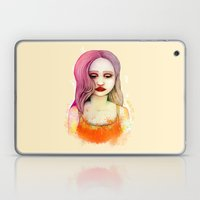 Yellow Girl Laptop & iPad Skin