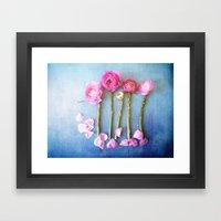 Wild Flowers and Spring Asparagus Framed Art Print