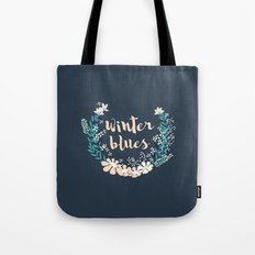 Winter Blues 004 Tote Bag