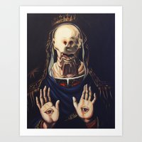 Pale Man With Crown Art Print