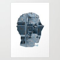 Art Print featuring Poster Face #1 by Ed J.