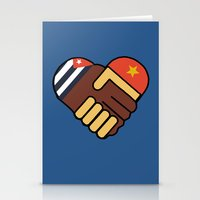 Hands Of Friendship Stationery Cards