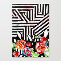 Mountains And Flowers Canvas Print