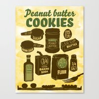 Peanut Butter Cookies Canvas Print
