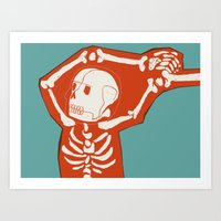Overlay Skeleton Art Print
