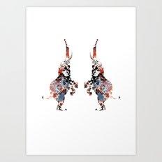 Dancing Elephants Art Print