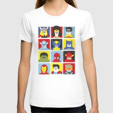 Felt Heroes Womens Fitted Tee White SMALL