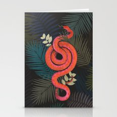 Tropical snake Stationery Cards