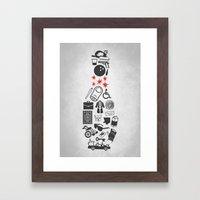 Elements Of Lebowski Framed Art Print