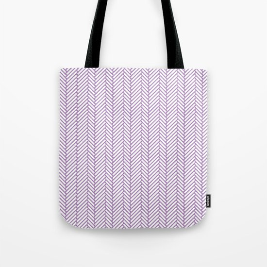Herringbone Orchid Tote Bag