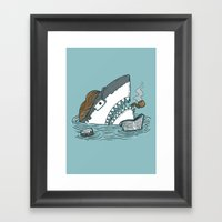 The Dad Shark Framed Art Print