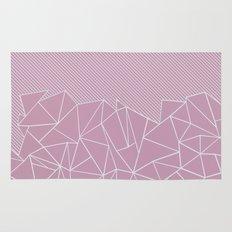Ab Lines 45 Pink Rug