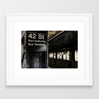 42nd Street Subway Stop Framed Art Print