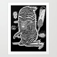Escape From Mushroom Isl… Art Print
