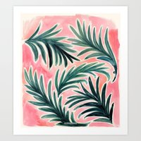 Lush Tropical Palm Art Print