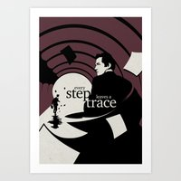The running man Art Print