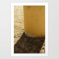 Cement And Shadows Art Print