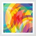 circle colour fields Art Print