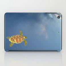 hawksbill swimming in the sky iPad Case