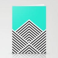 Minty Fresh Chevron Stationery Cards