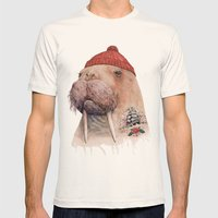 Tattooed Walrus Mens Fitted Tee Natural SMALL