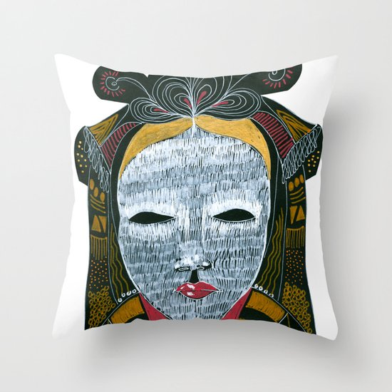 Black MASK Throw Pillow