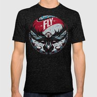 Fly Mens Fitted Tee Tri-Black SMALL