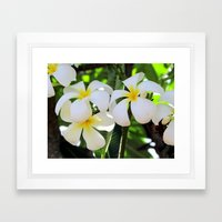 White and Yellow Framed Art Print