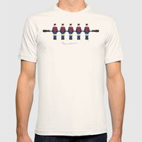 table football - Barcelona Mens Fitted Tee Natural SMALL
