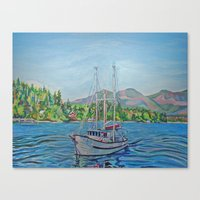 The Murralet At Winter Harbour Canvas Print