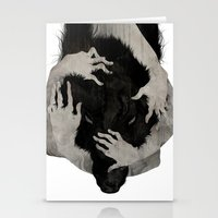 hair Stationery Cards featuring Wild Dog by Corinne Reid