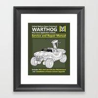 Warthog Service And Repa… Framed Art Print