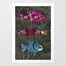 A Tale of Three Fishes Art Print