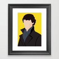 Framed Art Print featuring Sherlock by Jessica Slater Desig…