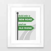 New Road - Old Friend Framed Art Print