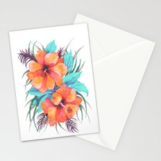 TROPICAL FLOWER {orange hibiscus}  Stationery Cards