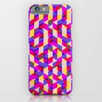 iPhone & iPod Case featuring Myth Syzer - Neon (Pattern #12) by Guillaume '96' Bonte