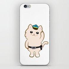 Animal Police - Cream cat iPhone & iPod Skin