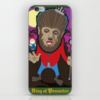 King Of Pentacles iPhone & iPod Skin